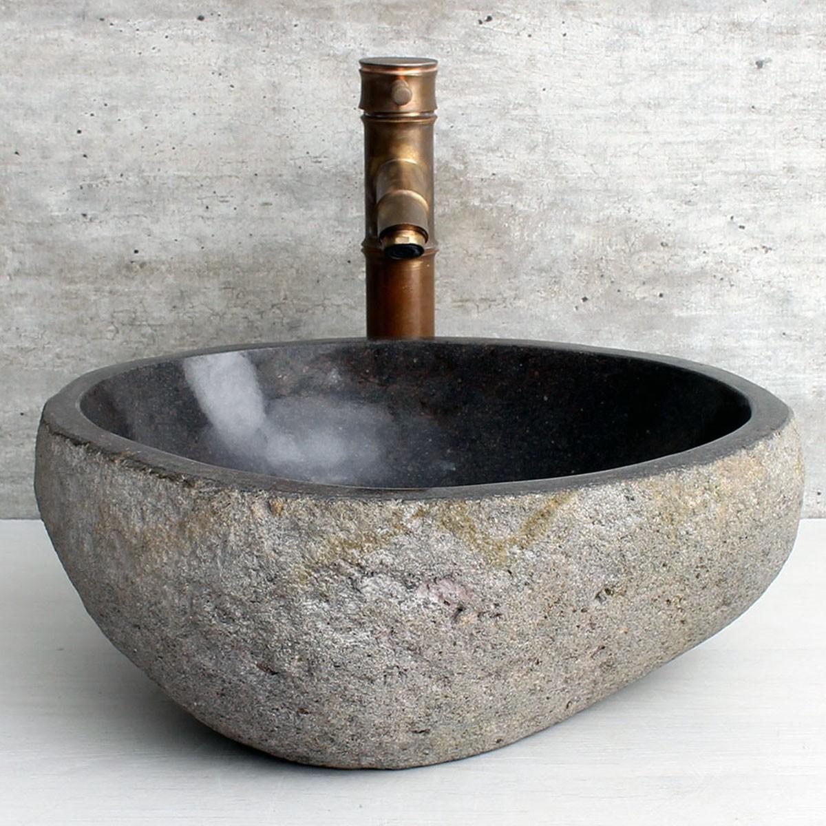 Cuba de Banheiro em Pedra Natural RS1161 37x33x15cm