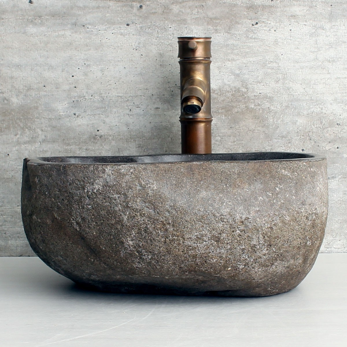 Cuba de Banheiro em Pedra Natural RS1167 36x31x15cm