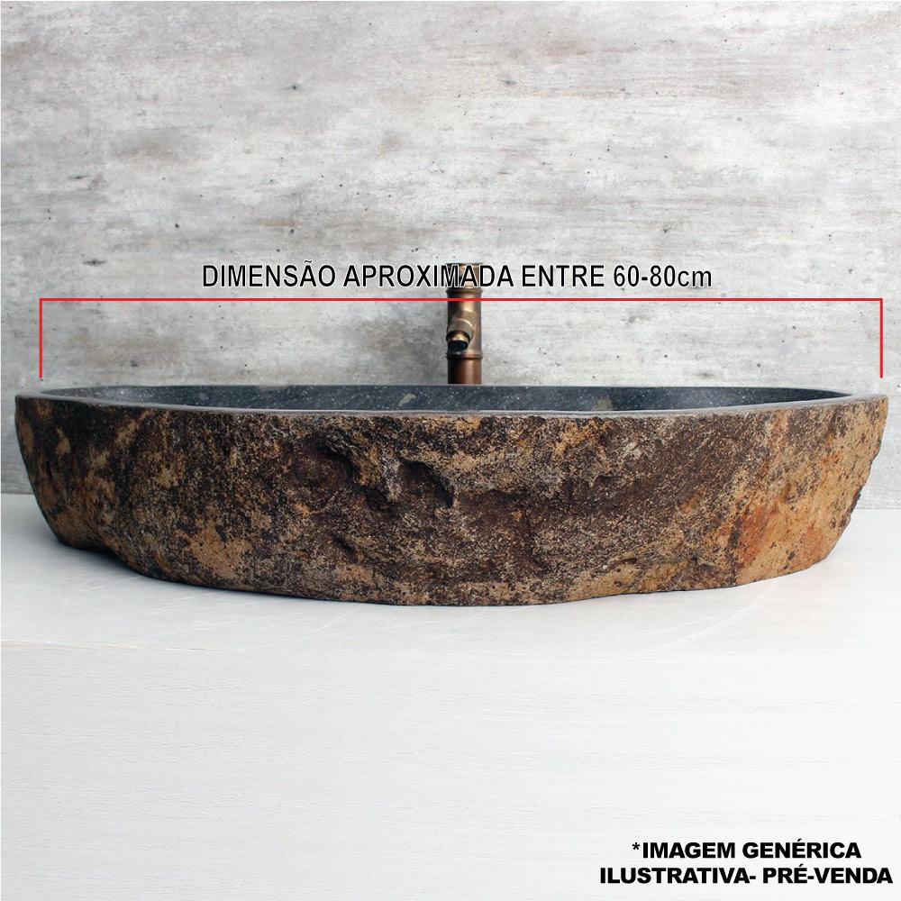 Cuba de Banheiro em Pedra Natural XL 60 a 80cm - Pré-Venda - Leia Descrição