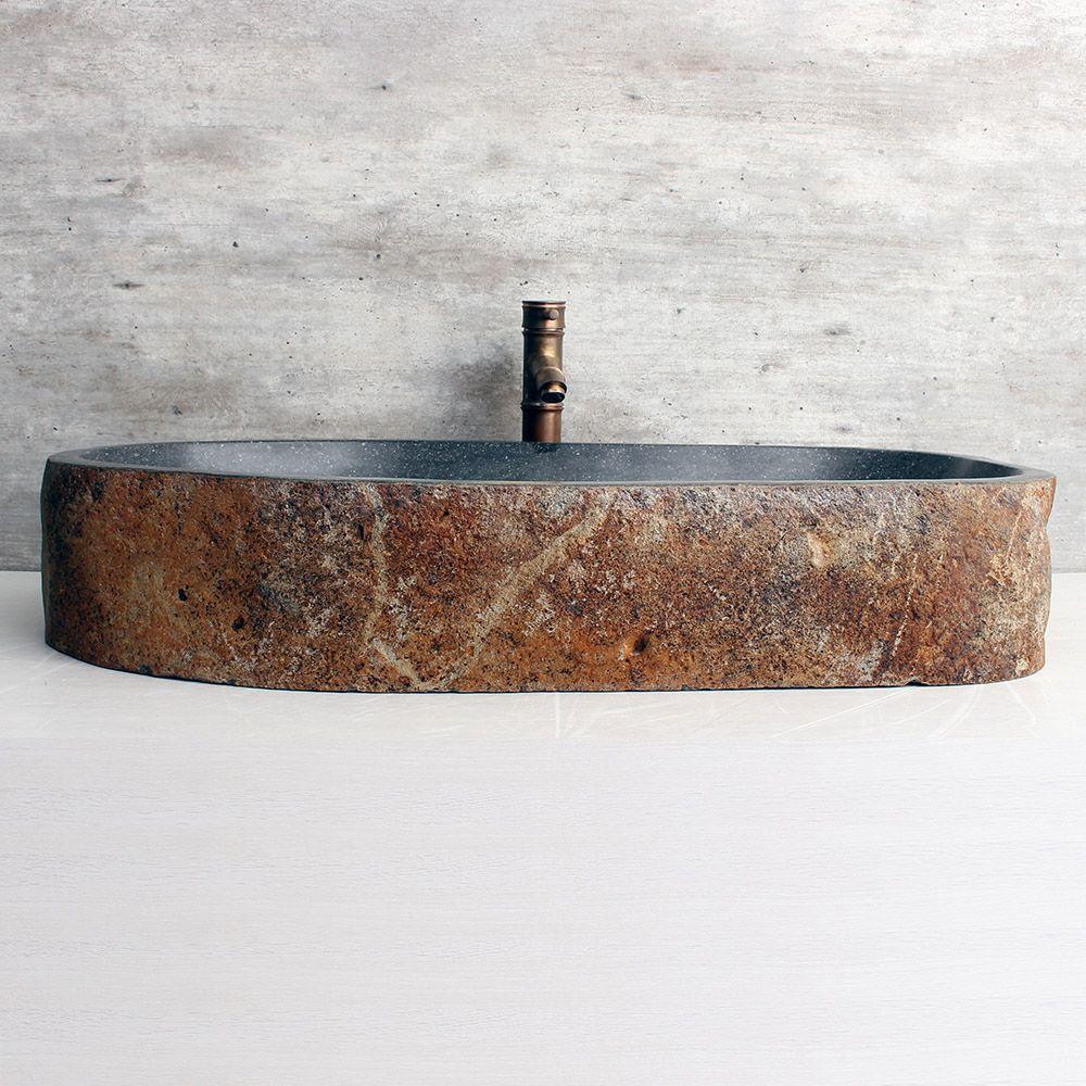 Cuba de Banheiro em Pedra Natural XXL46 87x45x15cm