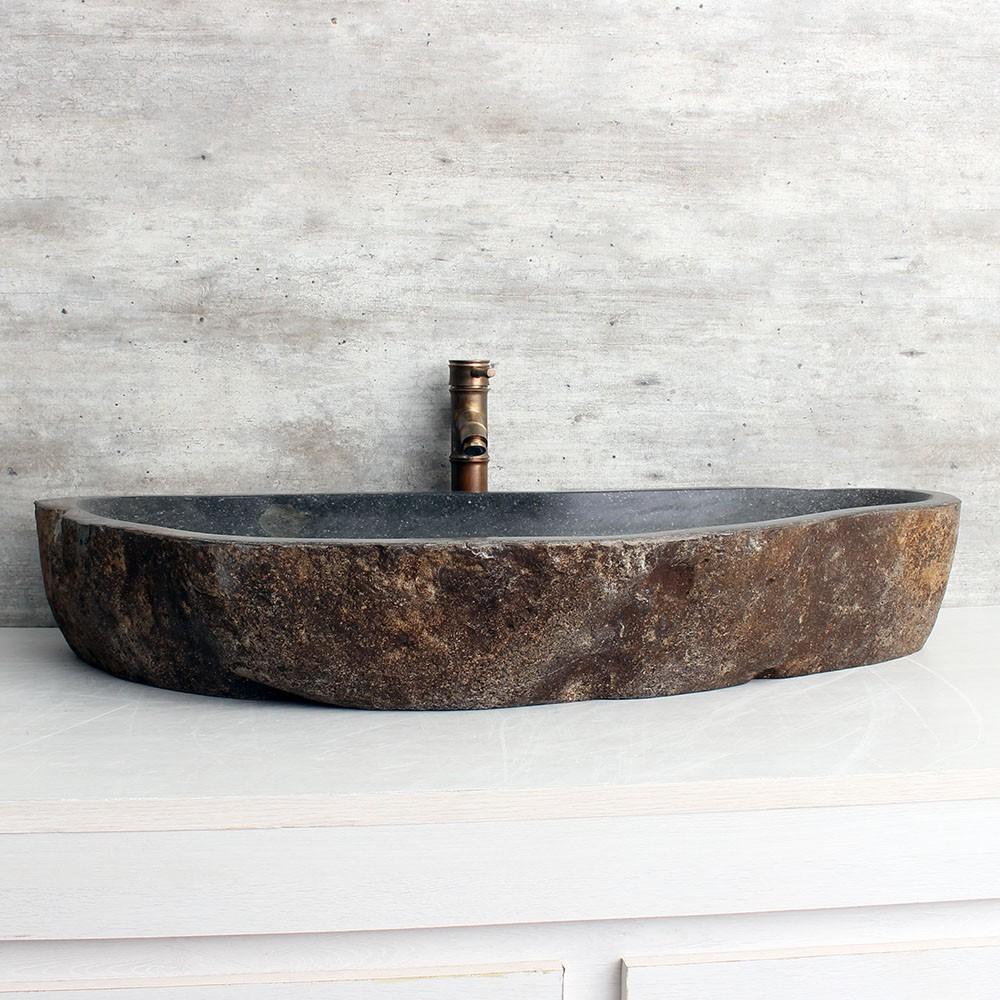 Cuba de Banheiro em Pedra Natural XXXL16-L 96x44x15cm