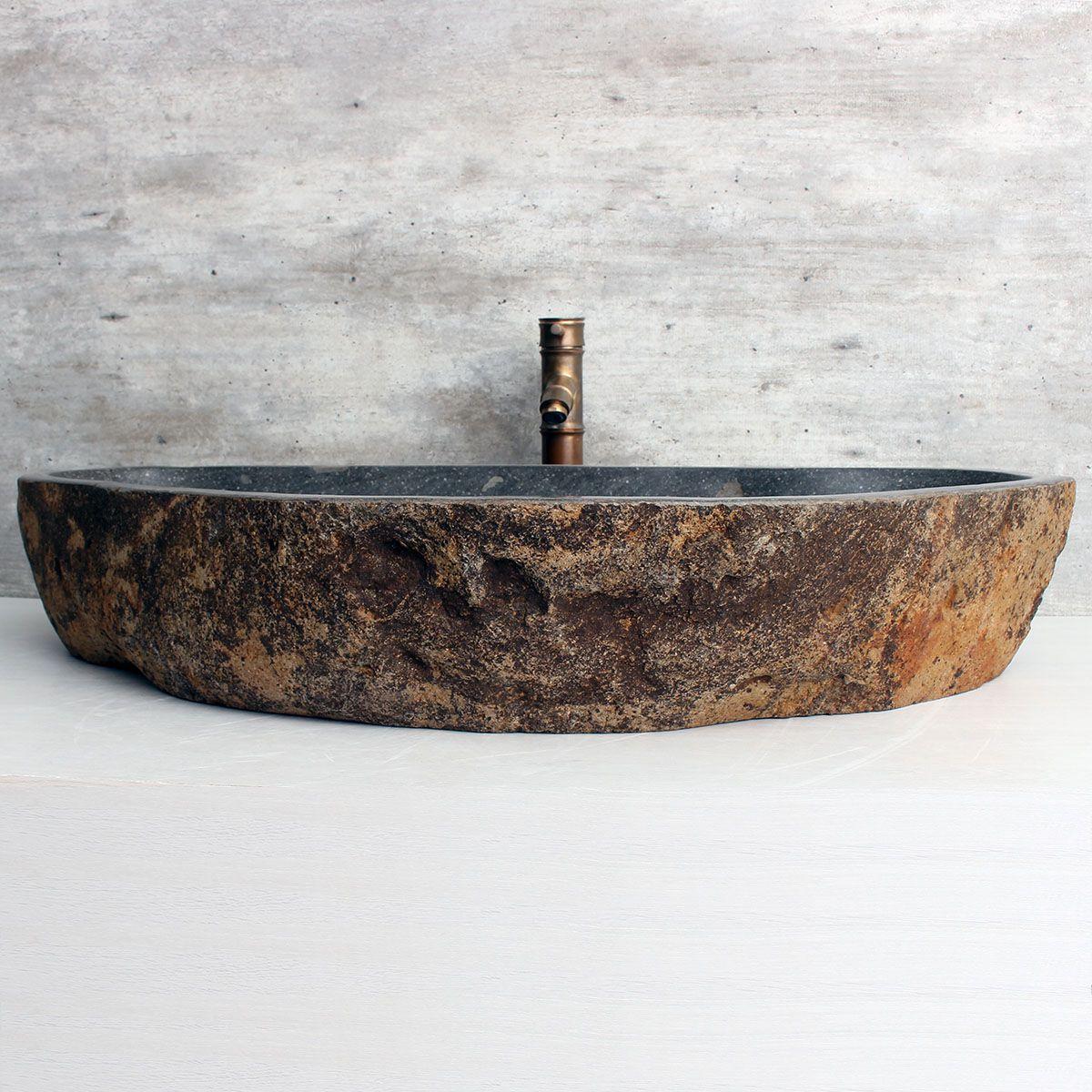 Cuba de Banheiro em Pedra Natural XXXL26 91x48x15cm