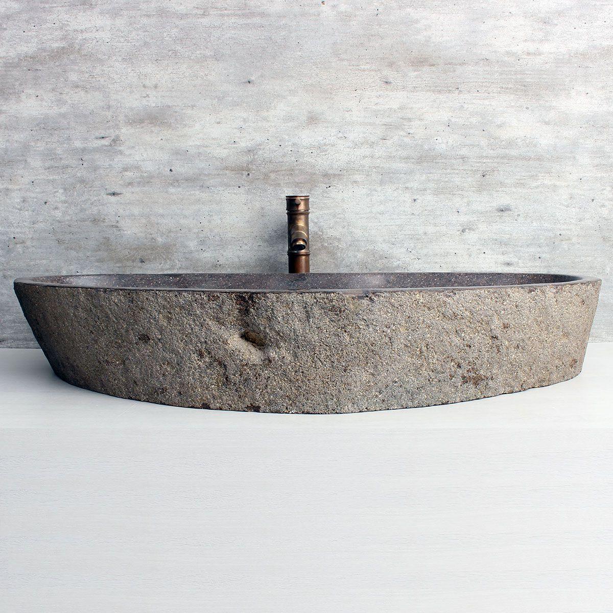 Cuba de Banheiro em Pedra Natural XXXL30 90x42x15cm