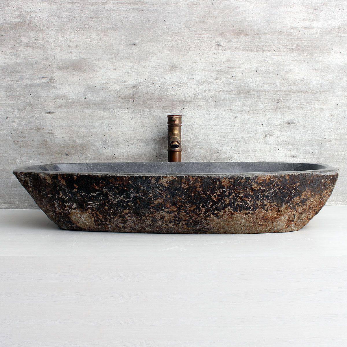 Cuba de Banheiro em Pedra Natural XXXL36 94x37x15cm