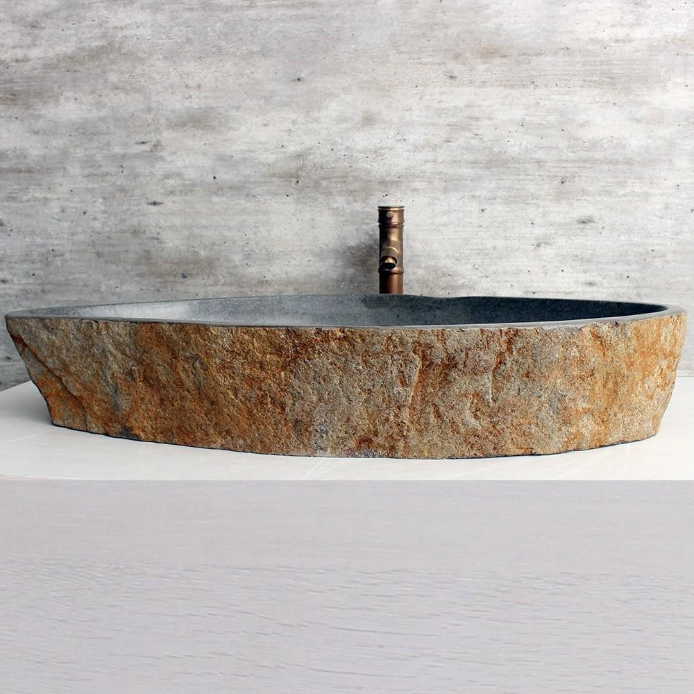 Cuba de Banheiro em Pedra Natural XXXL48 93x51x15cm