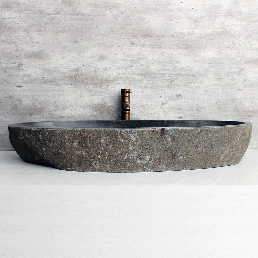 Cuba de Banheiro em Pedra Natural XXXL50-L 101x45x15cm-A