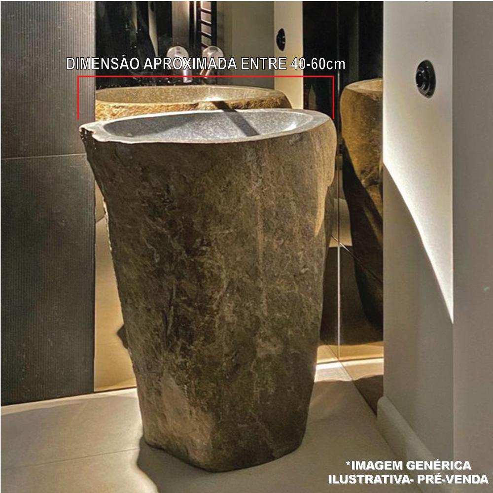 Cuba Pedestal de Banheiro em Pedra Natural - Pré-Venda - Leia Descrição
