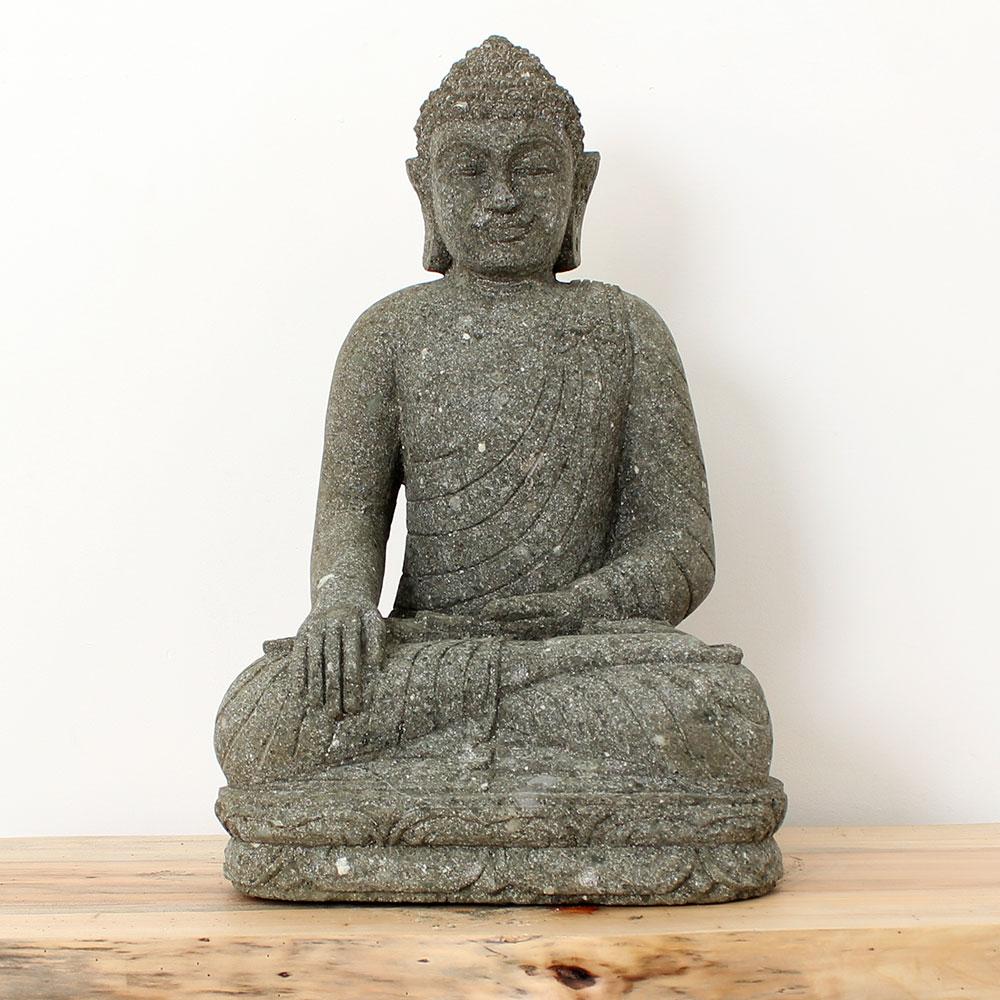 Estátua Buda Mão no Joelho 60cm ST40