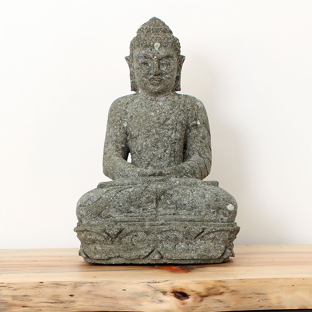 Estátua Buda Meditação 46cm ST19
