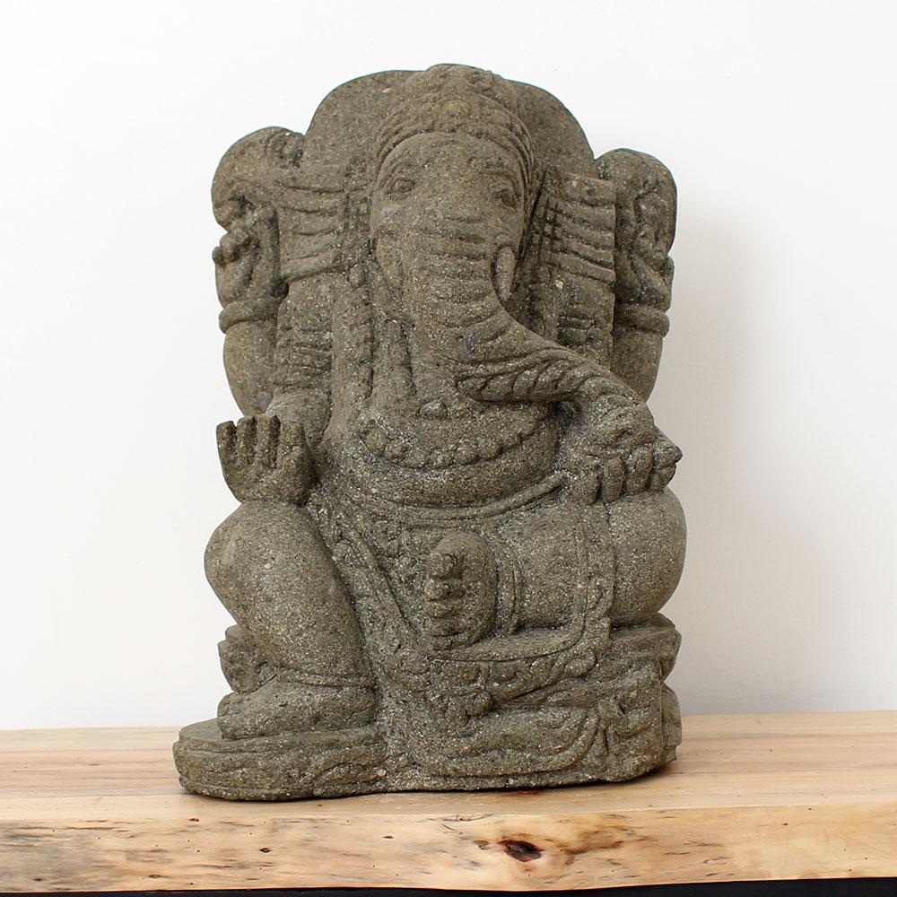 Estátua Hindu Ganesha Sentada 60cm ST44