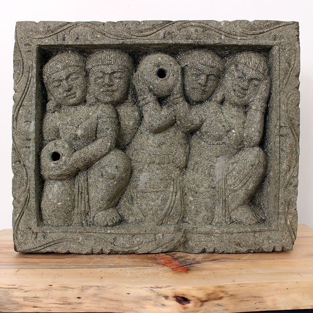 Estátua Hindu Fonte Relif Figure 60x48x12,5cm ST48