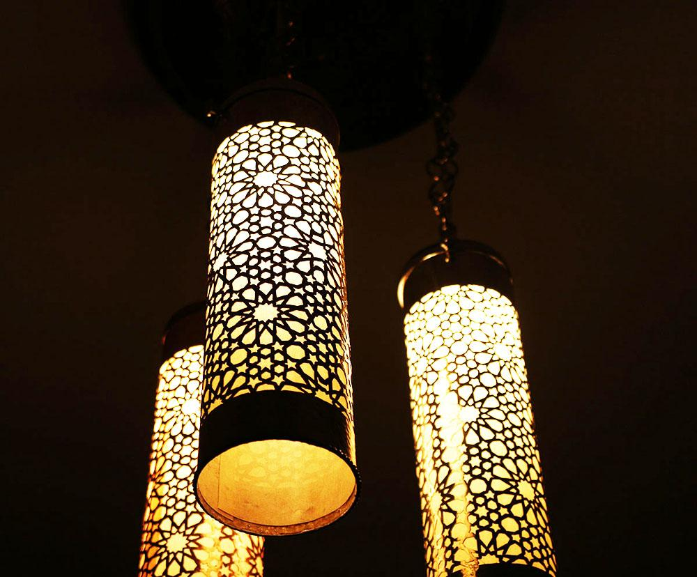 Luminária Teto Árabe Berbere C3C-L