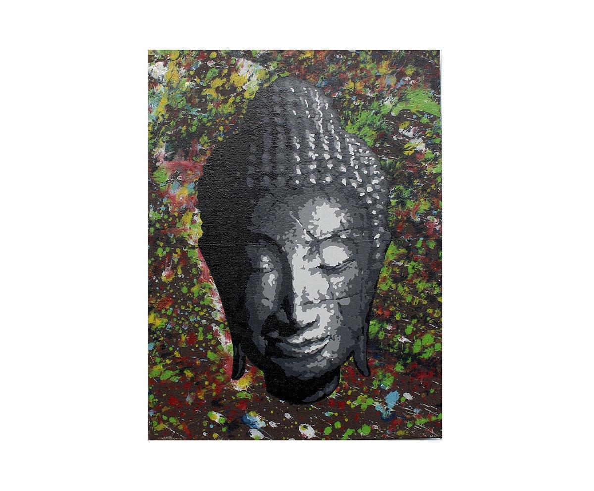 Quadro Buda Busto BBP04-L 30x40CM