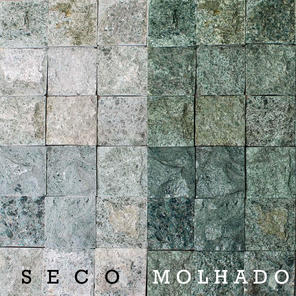 Revestimento Pedra Hijau Rústica 10x10cm - 1m² - RTA-1010