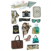 Adesivo La Petites 3D - Travel Girl
