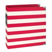 Álbum Snap  Simples Stories -   6x8 SN@P! Binder Red Stripes