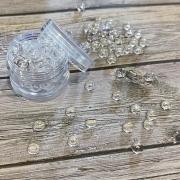 Pedrinhas Acrilicas - Dots Transparente - Efeito Gota D'agua 35 gramas - Melange