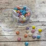 Bolinhas Coloridas com Strasas - 50 gramas