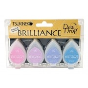 Carimbeira Brilliance Tsukineko Dew Drop - Kit com 4 unidades