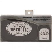 Carimbeira StazOn Metallic Tsukineko - Platinum Metalica