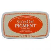 Carimbeira StazOn Pigment Tsukineko - Orange Peel - Laranja