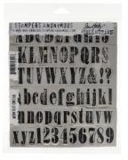 Carimbo Alfabeto - Tim Holtz