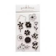 Carimbo Park Lane - Flores com faquinha