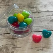 Corações Colorido Solido Grande - 50 gramas