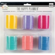 Discos Grande Coloridos  - The Happy Planner - 66 unidades