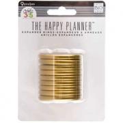 Discos Grande Gold - Expander The Happy Planner - 9 unidades