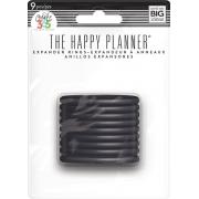 Discos Grande Preto - Expander The Happy Planner - 9 unidades