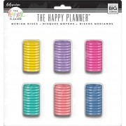 Discos Médio Coloridos  - The Happy Planner - 66 unidades