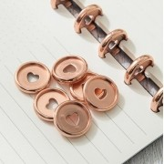 Discos Metálicos Médio Rose Gold - The Happy Planner - 11 unidades