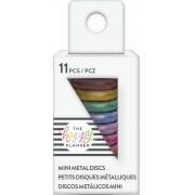 Discos Metálicos Pequenos Arco Iris - The Happy Planner - 11 unidades