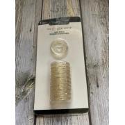 Discos Pequeno transparente com Glitter Dourado - The Happy Planner - 11unidades