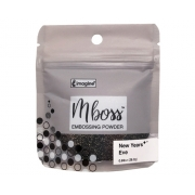 Embossing Powder - Mboss - Pó de Emboss New Years Eve - Preto com Dourado
