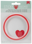 Fita Dupla Face Vermelha - Sticky Thumb Red Tape 1/4 - 6mm