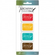 Mini Carimbeira Archival Ink Kit com 4 - AMDK57796