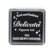 Mini Carimbeira Delicata - Dark Brown Shimmer