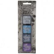 Mini Carimbeira Distress Ink - Kit com 4 - Blue