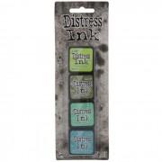 Mini Carimbeira Distress Ink - Kit com 4 - Green