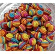 Missanga Perolada Colorida - 40 gramas