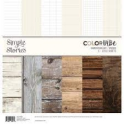 Papel Dupla Face - Simple Stories - Woods - 6 unidades