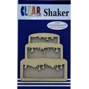 Shaker Madeira- Clear Scraps- Bolo
