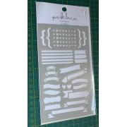 Stencil   Park Lane- Stencil para Planner