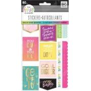 Stickers-Autocolantes - The Happy Planner 80 unidades- Estrela de Ouro