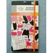 Stickers-Autocolantes - The Happy Planner - Fitness Accessory Book 638 pecas