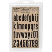 Tim Holtz- Idea Ology-Carimbo  Alfabeto