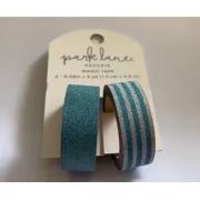 Washi Tape-Park Lane- Azul Glitter