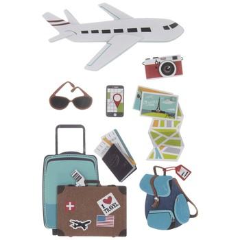 Adesivo La Petites 3D - Airplane Travel
